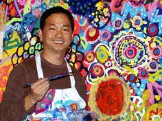 hiep nguyen art - collaborative circle paintings