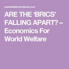 ARE THE 'BRICS' FALLING APART? – Economics For World Welfare