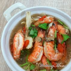 Let's get Wokking!: Herbal Drunken Prawns | Singapore Food Blog on easy recipes