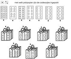 Werkblad: met welk pakpapier is het cadeautje ingepakt?