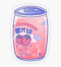 Strawberry Rain Mini Art Print by lauraoconnor Stickers Kawaii, Pop Stickers, Bubble Stickers, Anime Stickers, Printable Stickers, Preppy Stickers, Cute Food Drawings, Cute Kawaii Drawings, Kawaii Doodles
