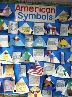 GLE  Identify and describe the significance of various state and national landmarks and symbols (H-1C-E2)   American Symbols 3rd Grade