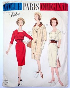 e12da0fe4e Details about Vintage Vogue Paris Original 1461 sewing pattern size 14  Patou dress 1960s