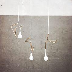 Modern lighting - Helt Enkelt lamp design by David Taylor Cool Lighting, Modern Lighting, Lighting Design, Pendant Lighting, Pendant Lamps, Lighting Ideas, Pipe Lighting, Wire Pendant, Deco Luminaire