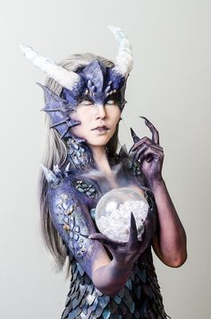 """""""We wanted her to look dangerous yet beautiful."""" Created for Cosmoprof's Makeup Artist Awards, this was a collaborative effort with my partner Iwasaka Miyuki for the Body Painting…"""