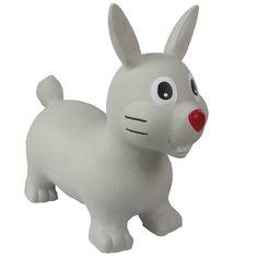 Un jeu de ballon sauteur en forme de lapin pour sauter partout. Fait de caoutchouc très solide. Emballé dans une jolie boîte avec une petite pompe de sorte que vous pouvez gonfler le lapin immédiatement.