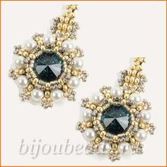 Earrings of pearls and Rivoli picture tute