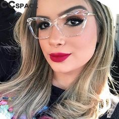 Details about Fashion square glasses frames women trending styles brand comfortable elegant - Fashion Eye Glasses, Cat Eye Glasses, Glasses Trends, Optical Eyewear, Womens Glasses, Black Women Fashion, Glasses Frames, Eyeglasses, Computer Glasses