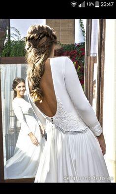 Vestido novia Marcela Manserga
