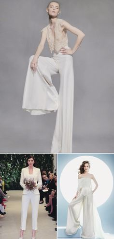 12 Most Beautiful Wedding Dress Trends from the Spring/Summer 2016 Bridal Runways - Pants and Suits