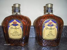 Specialized/monogrammed crown royal bottle to give groomsmen as an asking gift.