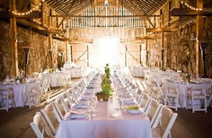 This is my vision for a reception. Nice and OPEN with one long table for family down the center...
