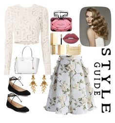 """""""Untitled #187"""" by katiepandowss on Polyvore featuring Chicwish, Karl Lagerfeld, A.L.C., Michael Kors, Gucci, Lime Crime, Stila, Oscar de la Renta and Charlotte Russe"""