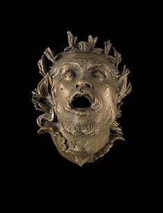 Description: Head of Pan with Mouth Wide Open Material(s): Bronze Date of Object: 150-100 BC Origin: Asia Minor Provenance: The Georgian National Museum Find Location: Vani, Temple Complex, Chamber 1
