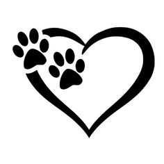 Items similar to Paw Love Heart Stickers, Animal Stickers, Car Stickers for … – foot tattoos for women Dog Tattoos, Tatoos, Machine Silhouette Portrait, Small Foot Tattoos, Cool Stickers, Car Painting, Car Decals, Sticker Vinyl, Dog Paws