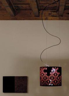 contemporary pendant lamp (fabric) ALVALINE: RICCAMI by Gualtiero Sacchi Viabizzuno