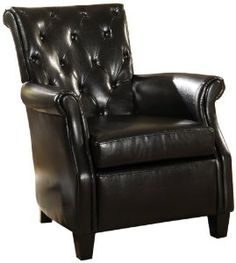 Furniture of America Genova Old English Style Arm Chair, Black