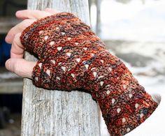 Elegance Gloves  by Crochet Gypsy in Sock, in Marte colorway.