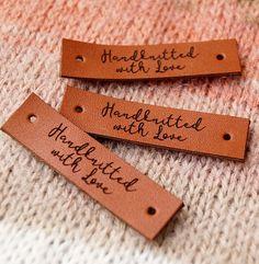 Étiquettes sur mesure en cuir étiquettes des vêtements