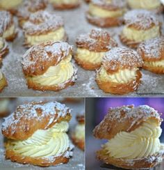 Ingredients:       1 stick butter (8 Tablespoons)   1 cup water   1 tsp vanilla   4 eggs   1c flour   MOM'S FAMOUS FILLING:   1 pi...