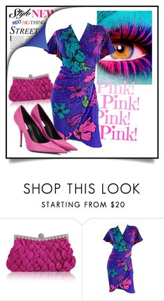 """""""Pink & Blue"""" by onelittleme ❤ liked on Polyvore featuring Balenciaga, vintage, Blue and dress"""