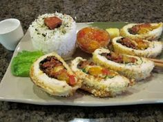 Panko Crusted Mango/Pineapple Chutney Chicken Breast w/ Portuguese Sausage