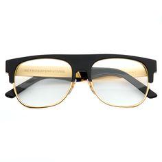 retrosuperfuture #glasses #black #gold