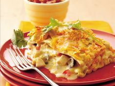 Mexican Chicken-Sour Cream Lasagna, using Old El Paso Chopped Green Chiles
