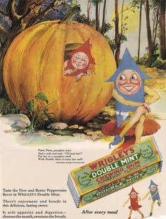 Wrigley's gum Pumpkin Eater ad reduced by katinthecupboard, via Flickr