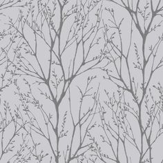 I Love Wallpaper™ Shimmer Tree Wallpaper Soft Grey / Silver - Wallpaper from I love wallpaper UK Waves Wallpaper, Wallpaper Uk, Feature Wallpaper, Wallpaper Samples, Peel And Stick Wallpaper, Designer Wallpaper, Pattern Wallpaper, Bedroom Wallpaper, Kitchen Wallpaper