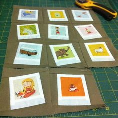 Heather Ross Polaroid Mini Quilt - I want to make one of these polaroid quilts some day