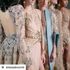 Esto son obras! #Repost @eliesaabworld with @repostapp  What couture dreams are made of... Bonne nuit Paris #TheBirthOfLight   via Instagram http://ift.tt/2j6lUnL