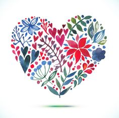 Image result for heart leaf watercolor