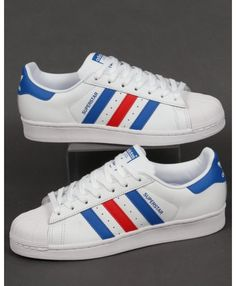 adidas superstar white - deals adidas superstar rose gold, glitter, holographic, black trainers for mens & womens, cheapest price with top quality assurance. Adidas Superstar Trainers, Superstars Shoes, Adidas Sneakers, Top Basketball Shoes, White Nikes, Shoe Sale, White Leather, Adidas Originals, Blue