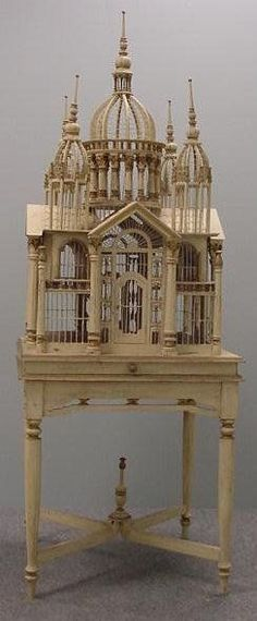 Victorian Palace Birdcage. I want one of these for the dining room: