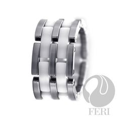 FERI Linked White - Ring