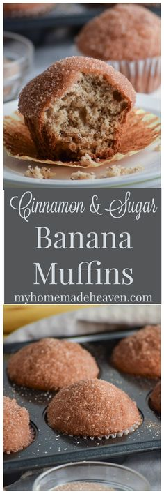 Cinnamon Sugar Banana Muffins - My Homemade Heaven