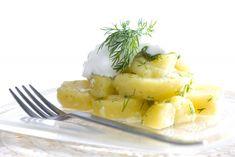 Πατατοσαλάτα με πλούσιο άρωμα και λάδι δεντρολίβανου με ελαιόλαδο Χωριό Αειφόρο και λεμόνι, από τον αγαπημένο μας Δημήτρη Σκαρμούτσο! Camembert Cheese, Pineapple, Dairy, Fruit, Recipes, Food, Pine Apple, Recipies, Essen