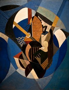 Albert Gleizes || On a Sailboat || 1916 || Oil on canvas