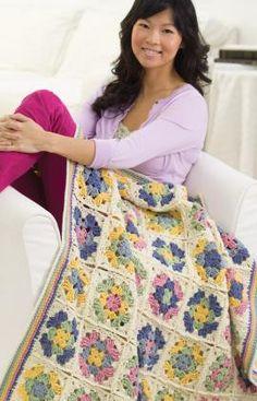 Versatile Granny Free Crochet Pattern from Red Heart Yarns
