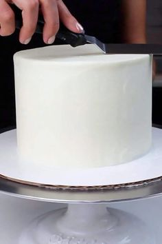 Vanilla Layer Cake Recipe, Vanilla Buttercream Frosting, Layer Cake Recipes, Vanilla Cake, 6 Cake, Cupcake Cakes, Recipe For 6, 6 In Cake Recipe, Recipe Ideas