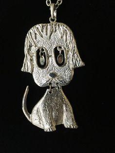 Vintage Siamese Cat and St Francis Cabochon Glass Bronze Pendant Necklace
