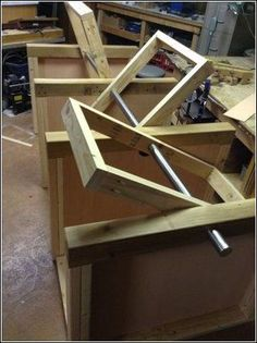 Building a flip-top table is great way to save shop space. Building 3 flip-tops as one long table is even better. This project started with an 7 long 2 quot; Woodworking Patterns, Easy Woodworking Projects, Popular Woodworking, Fine Woodworking, Wood Projects, Rockler Woodworking, Woodworking Magazine, Japanese Woodworking, Woodworking Techniques