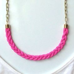 Neon Rope Necklace