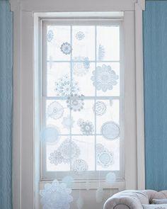 Stiffened Doily Snowflakes