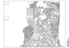 Klimt and other art coloring pages - free choice