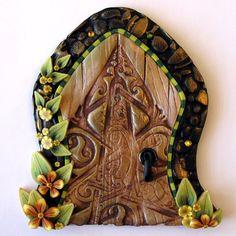 Celtic Fairy Door Kids Home Decor Wall Art by Claybykim on Etsy, $ 20.00