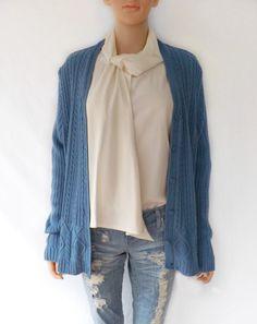 Vintage Cardigan, 70's BOBBIE BROOKS Cable Knit Cardigan Sweater, Cable Knit Jumper by luvofvintage on Etsy https://www.etsy.com/listing/216475410/vintage-cardigan-70s-bobbie-brooks-cable