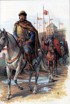 Russian noble and knights during the Mongol Invasion of Russia