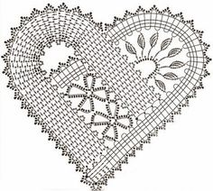 Stunning artistic crochet heart motif pattern. More Great Looks Like This